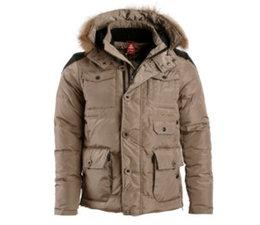 PEAK Sport Winterjas in de kleur Dark Khaki - Style F5241071