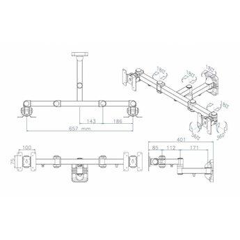 Newstar FPMA-W960D Monitorbeugel