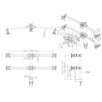 Newstar FPMA-D700D6 Monitorbeugel