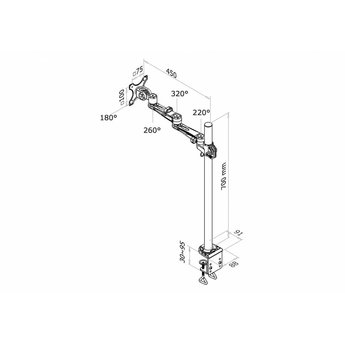 Newstar FPMA-D935POLE70 Monitorbeugel