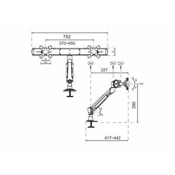 Newstar FPMA-D940DG Monitorbeugel