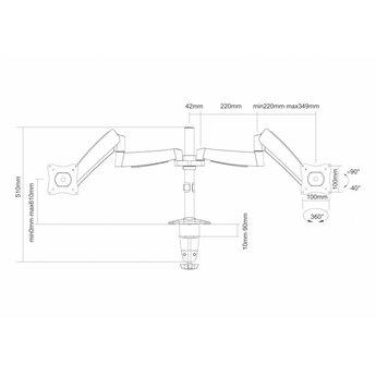 Newstar FPMA-D950D Monitorbeugel