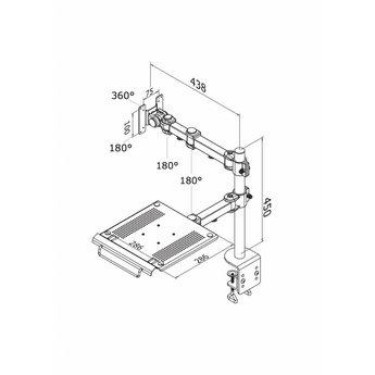 Newstar FPMA-D960NOTEBOOK Monitorbeugel