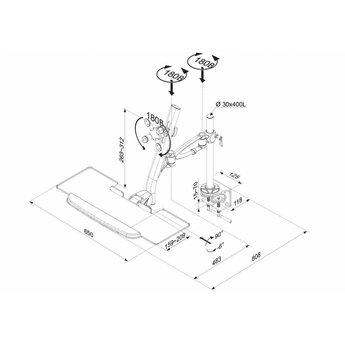 Newstar FPMA-D1020KEYB Monitorbeugel