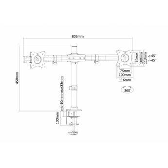 Newstar FPMA-DCB100DBLACK Monitorbeugel