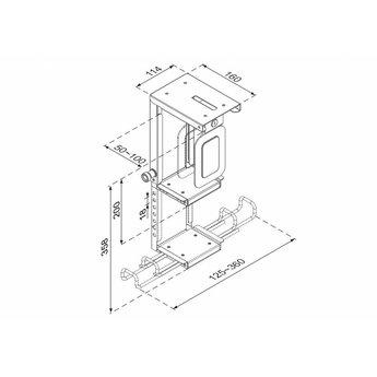 Newstar CPU-D075BLACK/LK CPU Houder