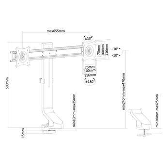 Newstar FPMA-D860DBLACK Monitorbeugel