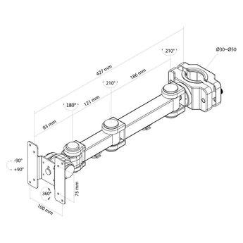 Newstar FPMA-WP300BLACK Monitorbeugel