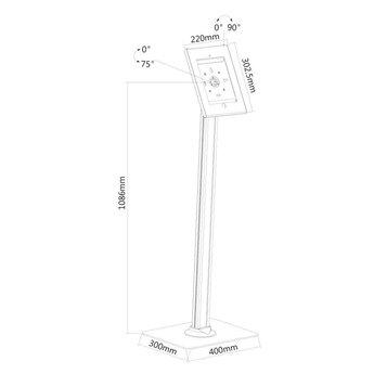 Newstar TABLET-S300WHITE Tablet Vloerstandaard
