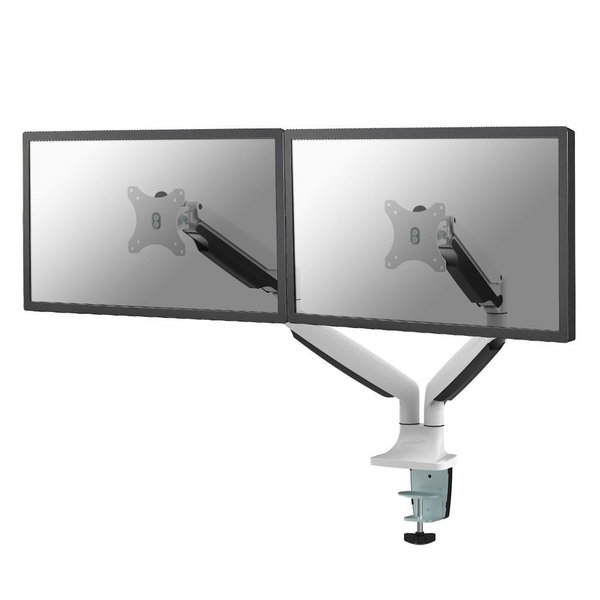 Neomounts NM-D750DWHITE Dubbele Monitor Beugel