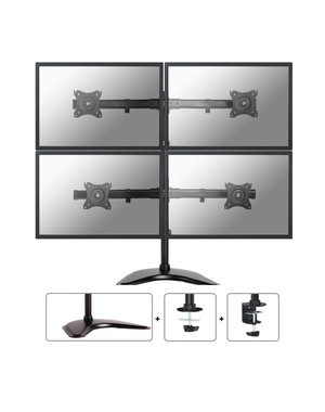 Neomounts NM-D335D4BLACK voor 4 Monitoren