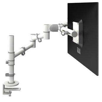 Dataflex Viewgo Dubbele Monitorarm Wit - bureau 130