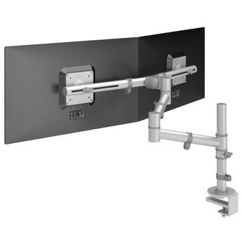 Dataflex Viewgo Dubbele Monitorarm Zilver- bureau 132