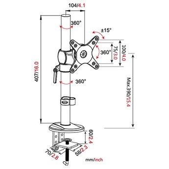 Vision Mounts VM D11 Monitorarm Zwart