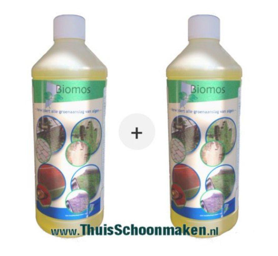 Biomos groene aanslag verwijderaar (set van 2 flessen à 1 liter)