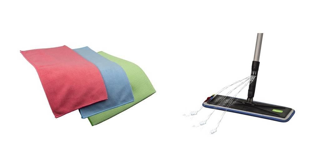 ThuisSchoonmaken.nl® lijn producten van microvezel