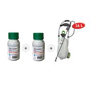IMEX Glyfosaat 3 Onkruidverdelger + Drukspuit op wielen (Trolleysprayer)