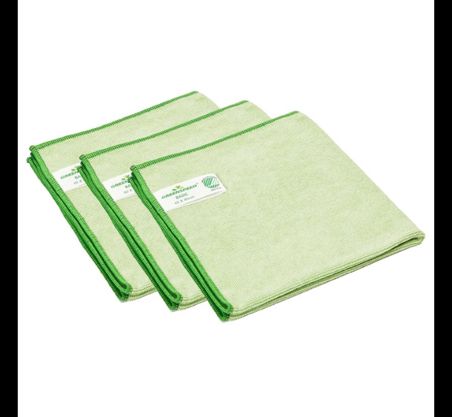 3 Stück Greenspeed Basic Mikrofasertuch