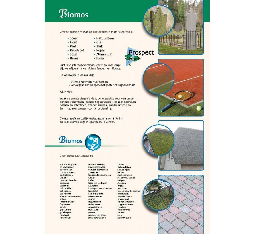 Biomos (2 flessen) + rugspuit