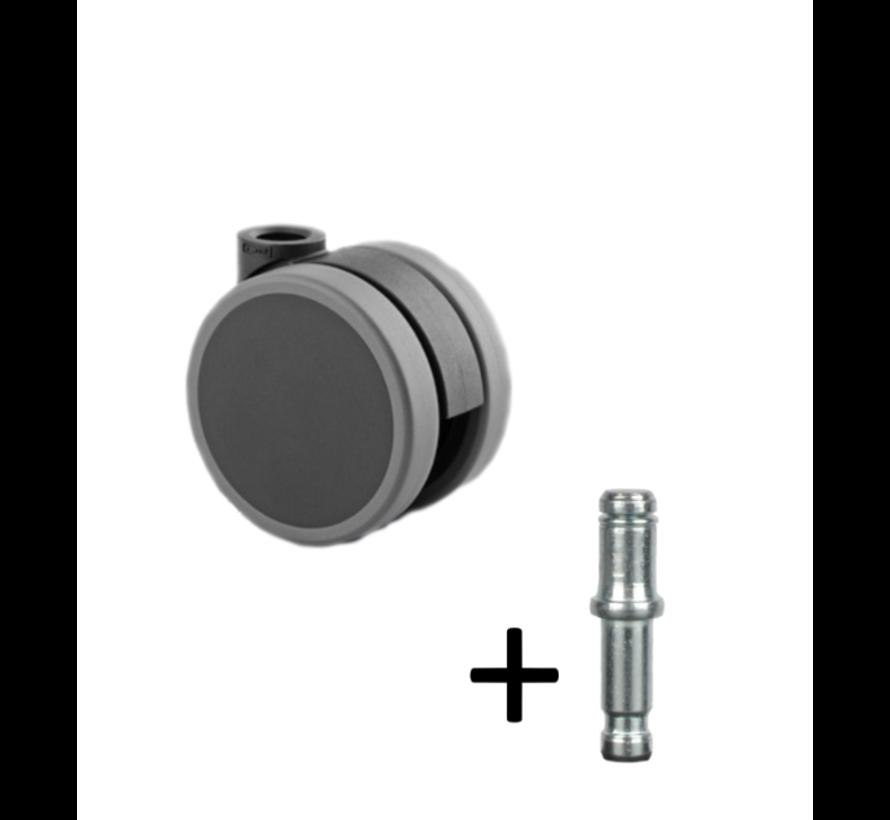 Bureaustoelwiel / Zwenkwiel (basic)
