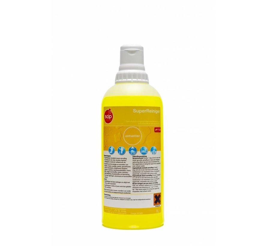 SuperReiniger (ontvetter fles à 1 liter met doseerdop)