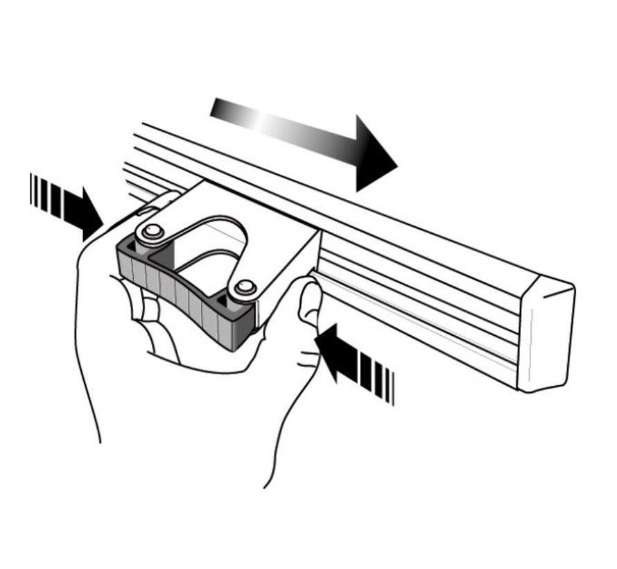 Kunststoffhaken 25 mm (set à 5 stück, in schwarz)