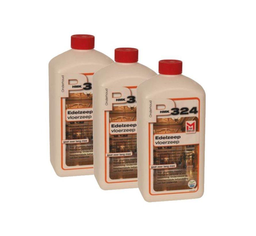 P324 Edelzeep - Vloerzeep (3x 1 liter fles) voordeelpakket