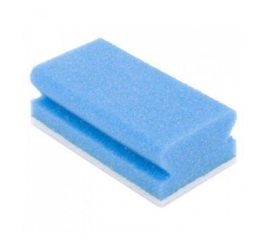 Vliesschwamm mit Griffleiste - Blau