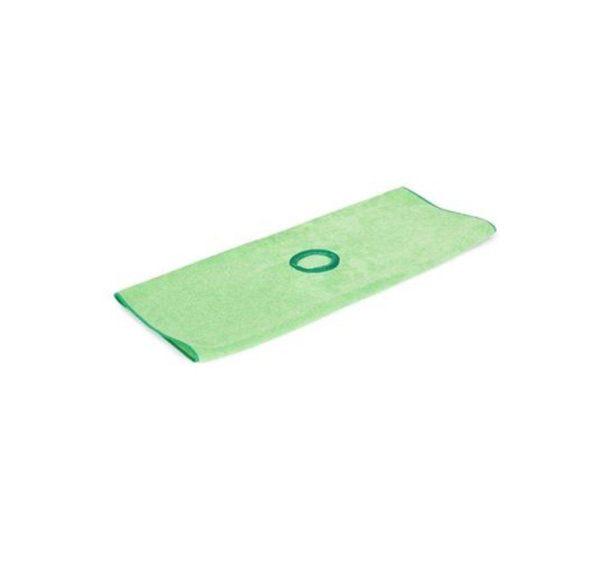Microvezeldweil 53x70 cm groen met steelgat