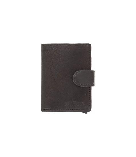 Figuretta  Card Protector Black Nappa Leren