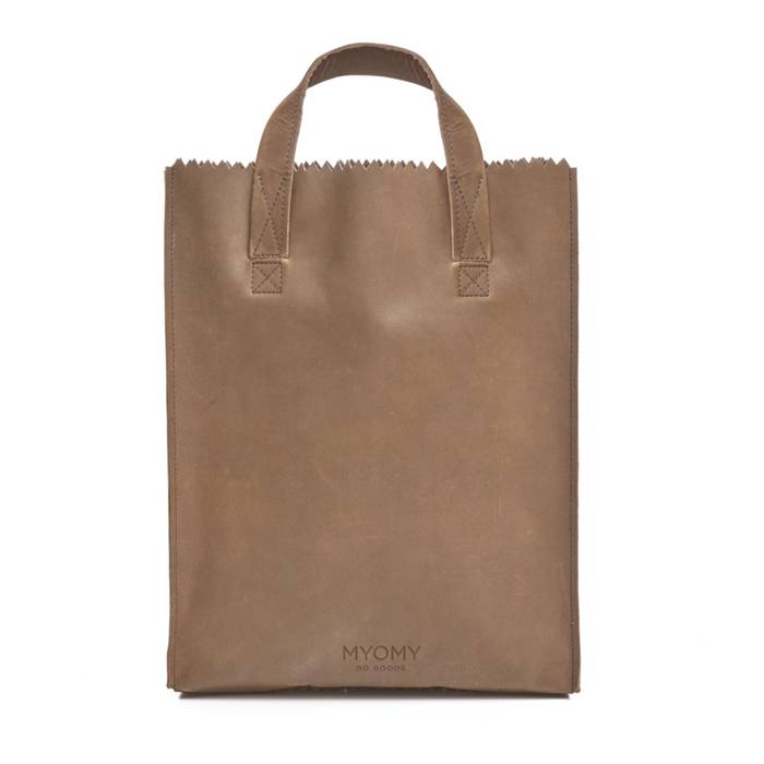 MYOMY My paper bag short handle fairtrade designer tas