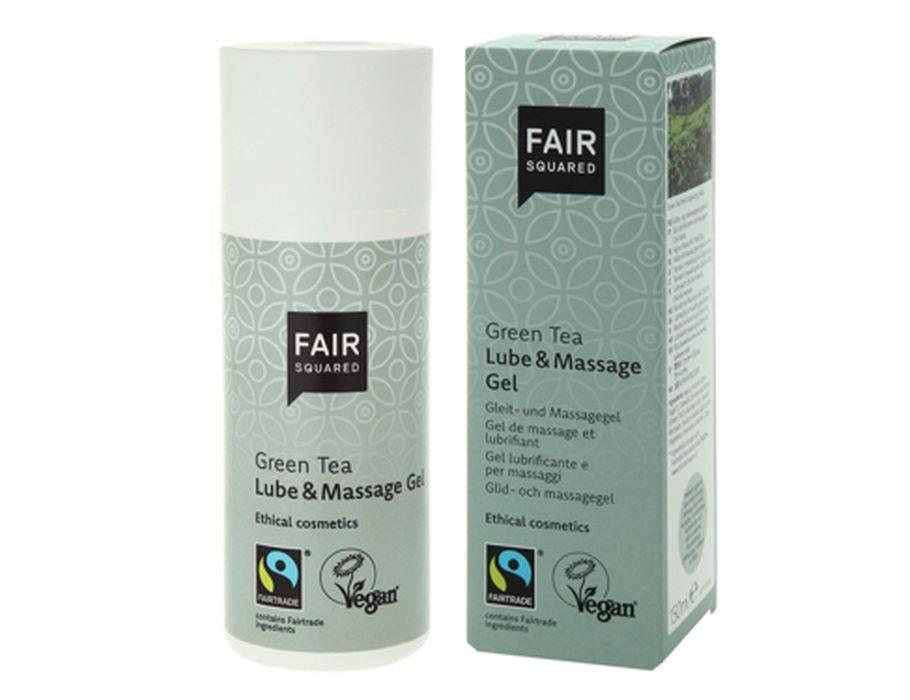Fair Squared glijmiddel en massage gel Green Tea