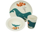 Zuperzozial kinderservies lunchset Walvis