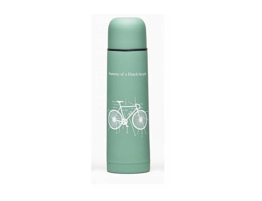 "Tulper thermosfles groen ""fiets"" (500 ml)"