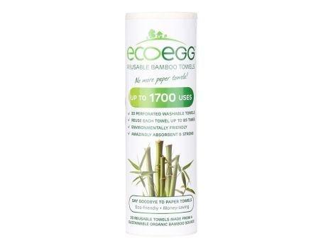 Eco Egg herbruikbare keukenrol bamboe 20 stuks