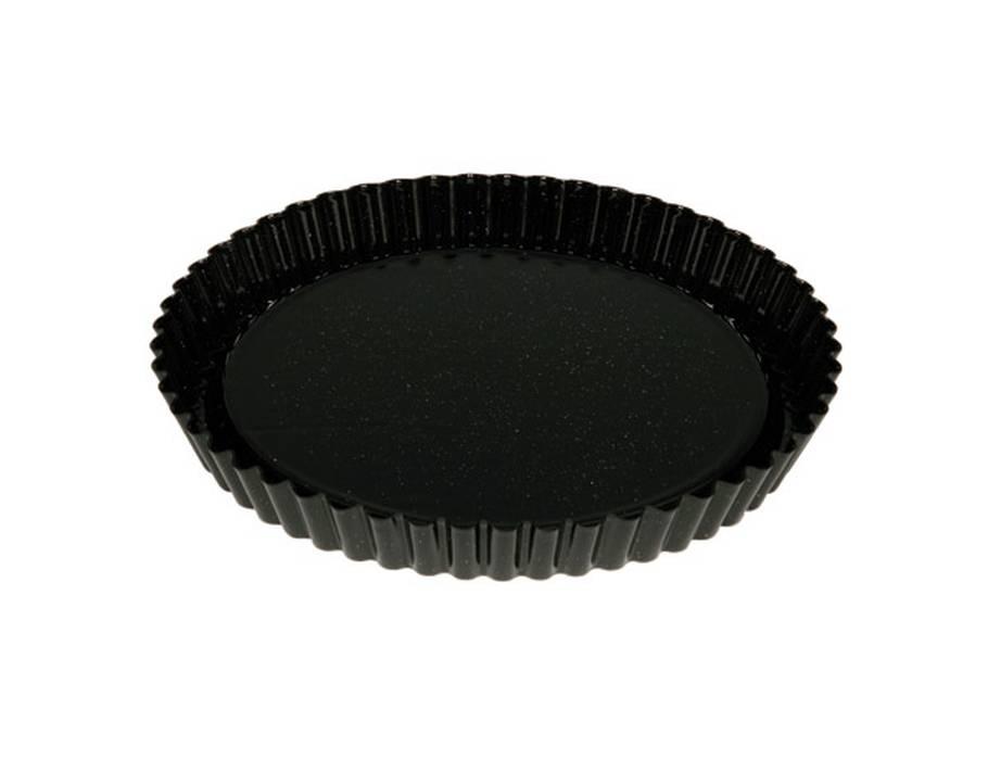 Riess taartbodem emaille rond 30 cm zwart