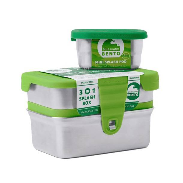 Eco lunchbox lunchbox  lekvrij Splash box 3 in 1