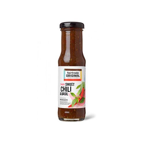 Fairtrade original Woksaus Sweet chili & basil