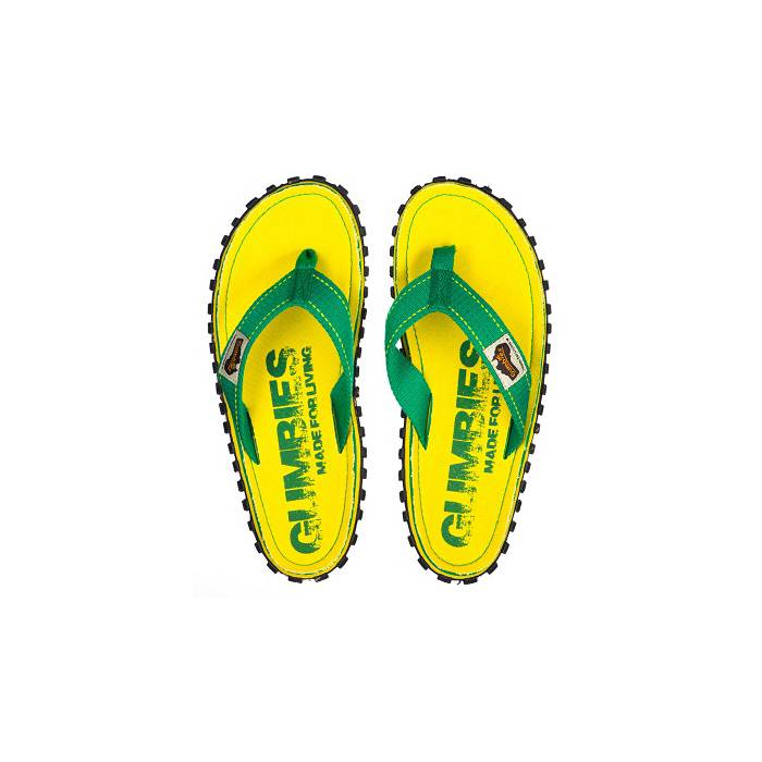 Gumbies teenslippers flip flop yellow eroded