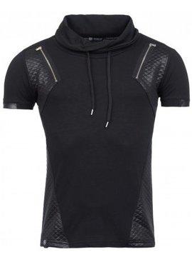 ReRock Double Zip T-shirt Leather Look (M)