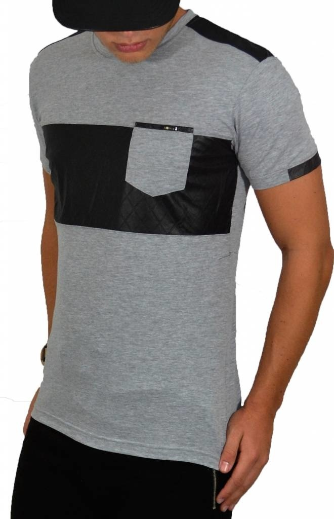 ReRock T-shirt Leather Look Grey