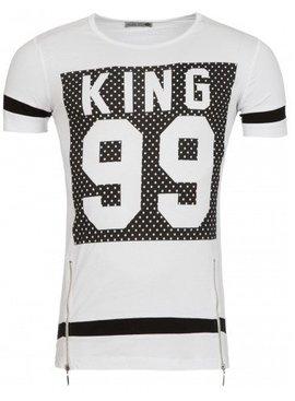 Young & Rich T-shirt King 99 White (M/L/XL)