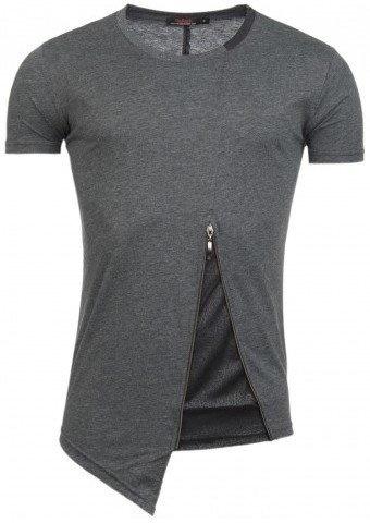ReRock T-shirt Bottom Zip Grey