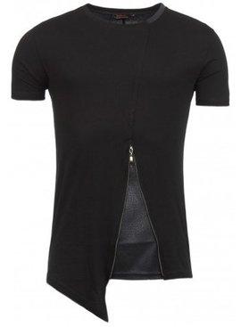 ReRock T-shirt Bottom Zip Black (maat M/L)