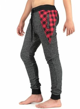 Blackrock Joggingbroek Antraciet Rood (Maat XL)