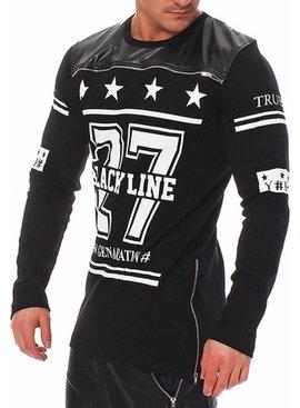 ReRock Longsleeve Leather Black Line 27 (Maat L)