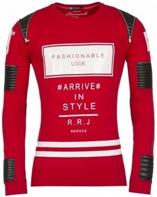 ReRock Sweater Fashionable Look Rood (Maat L)