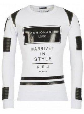 ReRock Sweater Fashionable Look Wit (Maat S)