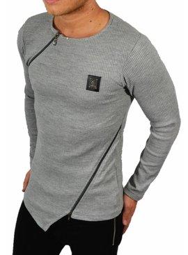 Blackrock Sweater Grijs Double Zip (maat S/M)