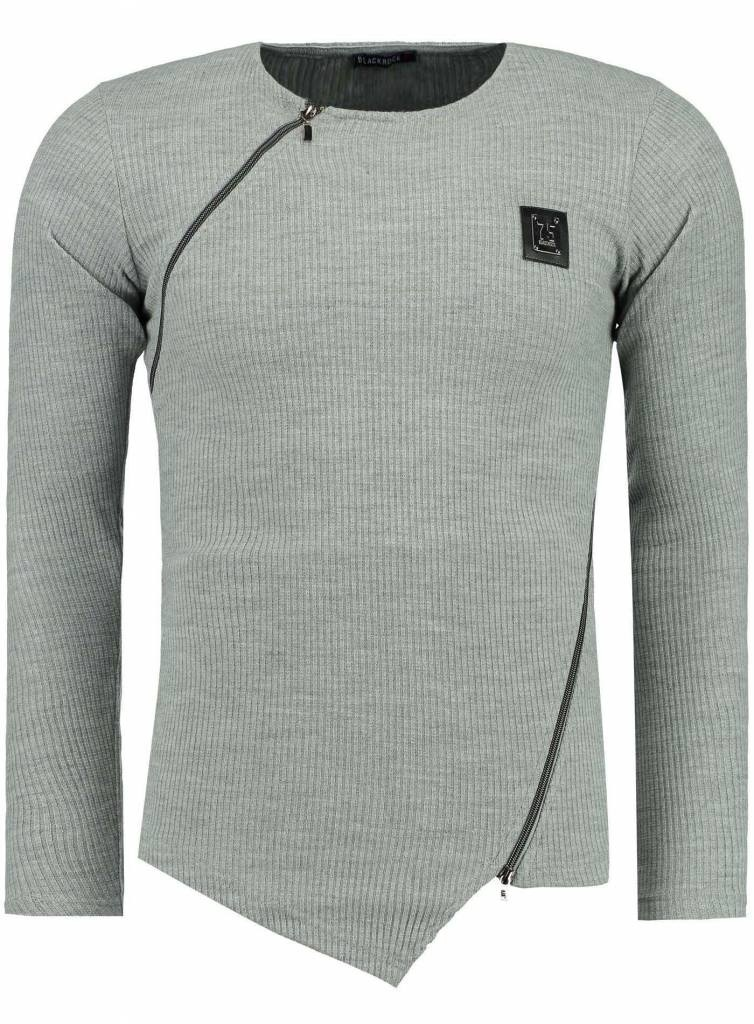 Blackrock Sweater Grijs Double Zip